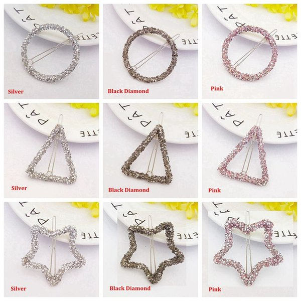 1 Pcs New Fashion Hair Clip Hairpins Hair Pin Decorations Jewelry Accessories Girls Stling Circul Clip Delicate Tools