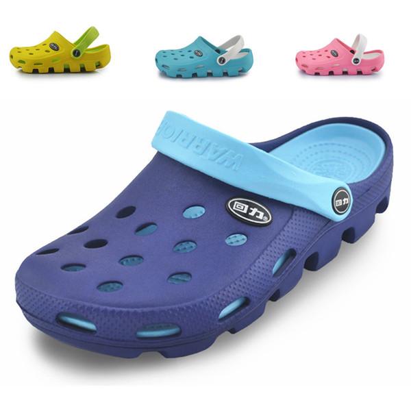 2019 новые женские сандалии летние дырявые тапочки пара сандалий мулов и сабо садовая обувь для женщин дышащая пляжная обувь