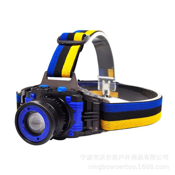 Night Fishing Light Rotary Focusing Headlamps Waterproof 5W Charge Outdoors Strong High Power Hunting Portable Hot Sale 18we2f1