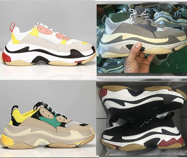 top popular Designer 17FW Triple-S Sneaker Running Shoes Men trainers luxury Retro Dad Casual Shoes women High Quality fashion Sneakers shoes EUR 36-45 2019