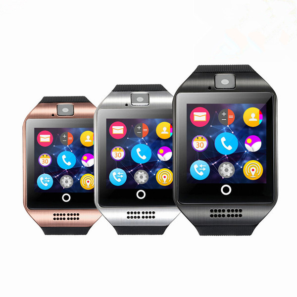 Best Android Watch 2020.2020 New Q18 Smartwatch Bluetooth Wristband Smart Watches Tf Sim Card Nfc With Camera Chat Software For Ios Android Cellphones Stylish Smart Watches