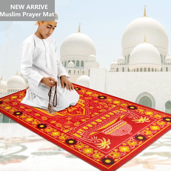 66 * 110 cm Alfombra de oración musulmana islámica Salat Musallah Alfombra de oración Tapis Alfombra Tapete Banheiro Alfombra de oración islámica