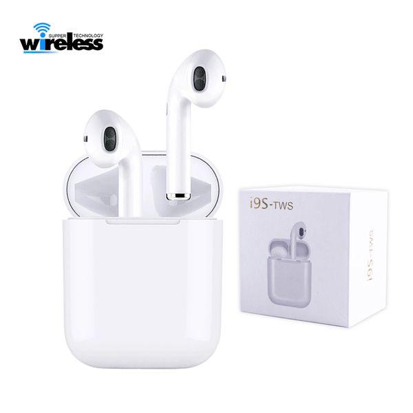 i9s TWS bluetooth 5.0 Mini Bluetooth Drahtlose Kopfhörer kopfhörer Ohrhörer unterstützung pop up fenster Headsets Android Für Smart Handy