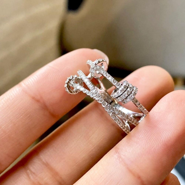 2019 anello preferito delle nuove donne calde semplice anello per dito indice moda materiale semplice personalità squisita è argento 925