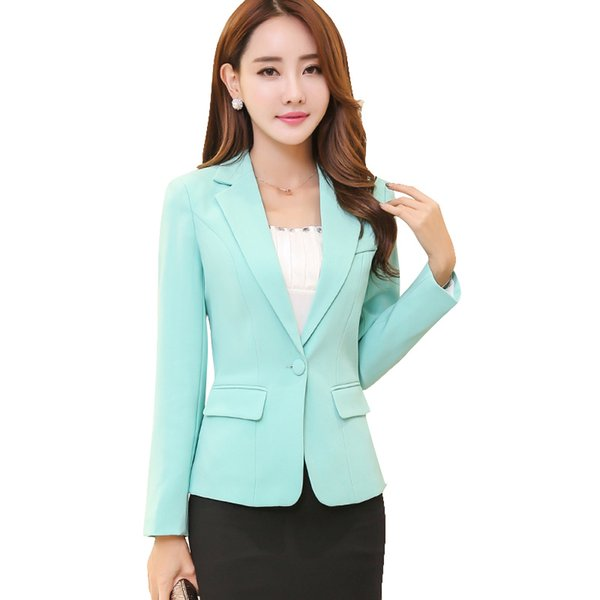2019 Autumn New Slim Slimming Ladies Small Suit Long-sleeved Casual ol temperament Korean Small Suit Jacket Female Spring G962
