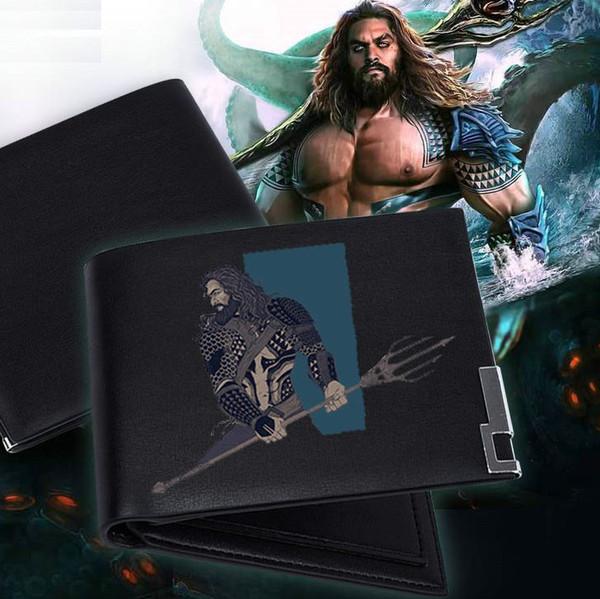 Portefeuille Aquaman Porte-monnaie Arthur Curry Coffret billets de banque Jason Momoa Porte-monnaie en argent Porte-cartes