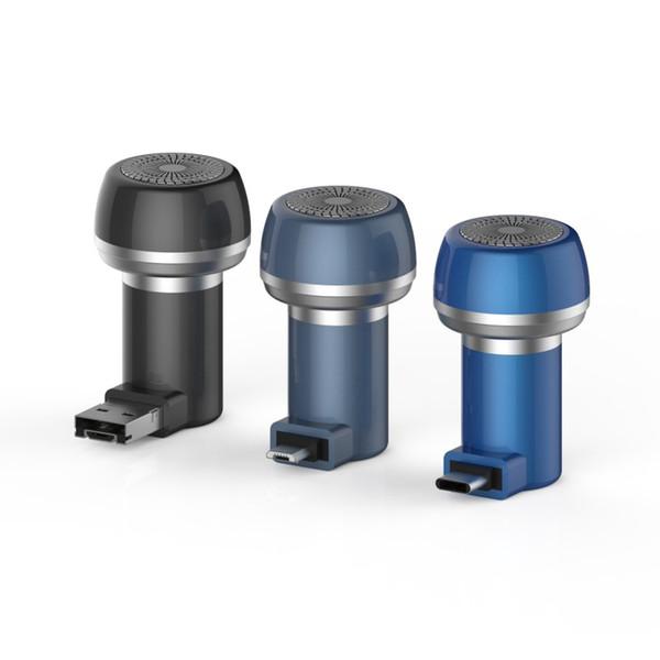Mini Travel Razor Cellphone Micro USB Type-C Beard Shaver Body Magnet Hair Trimmer Shaving Machine USB Gadgets