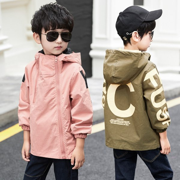 Boys Warm Jacket Children Long Sleeve Hooded Active Windbreaker Sport Coat Teenage Clothes Big Boys Cool Hoody Outwear