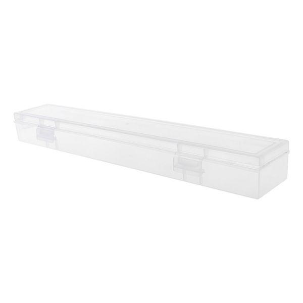 Monolayer Pencil Case Transparent Plastic Pen Storage Box Stationery School Office Supplies Kids Gift