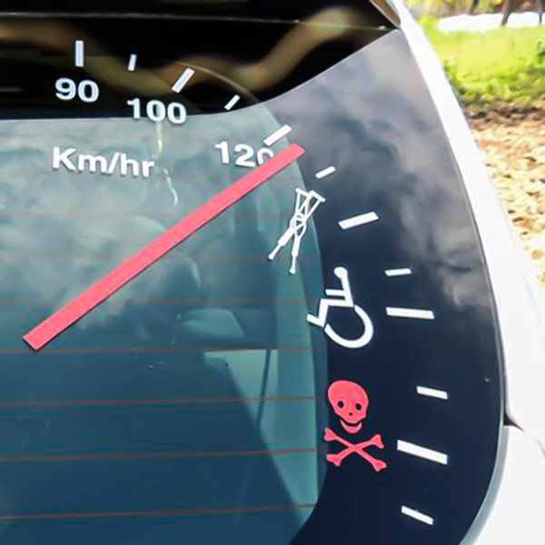 Speedometer Speeding Safe Warning Funny Cluster Car Decal Vinyl Sticker Bumper