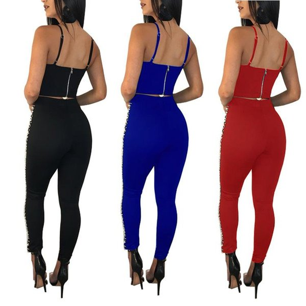 Amazon ebay2019 новая летняя мода повседневный костюм Европа и США сексуальный ночной клуб набор из двух волос