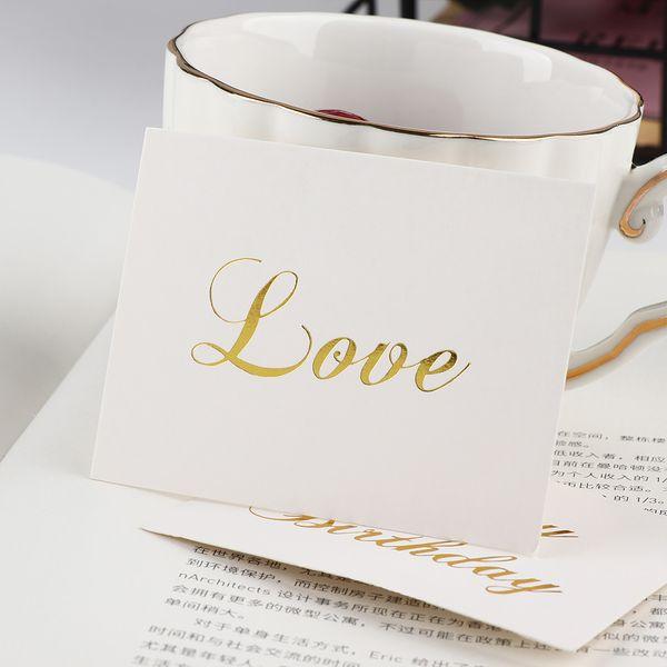 Compre Mini Grabada En Relieve Oro Gracias Tarjeta De Navidad Del Partido Del Feliz Cumpleaños Del Día De San Valentín Invitación De La Boda De La