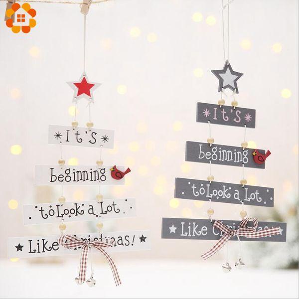 Frohe Weihnachten Anhänger.Großhandel 1 Stücke Frohe Weihnachten Brief Holz Anhänger Ornamente Weihnachtsbaum Ornament Holz Handwerk Für Haus Wand Weihnachten Party