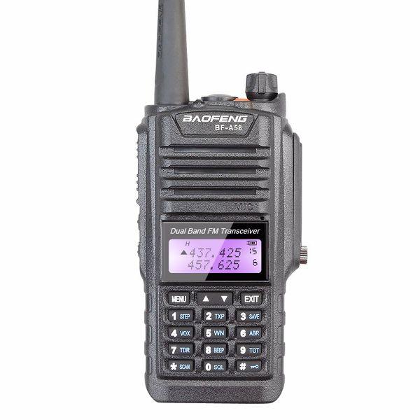 Многоканальный портативный BaoFeng BF-A58 8W Walkie Talkie / двусторонняя радиостанция УФ 136-174 / 400-520 МГц Водонепроницаемый IP67 Приемопередатчик