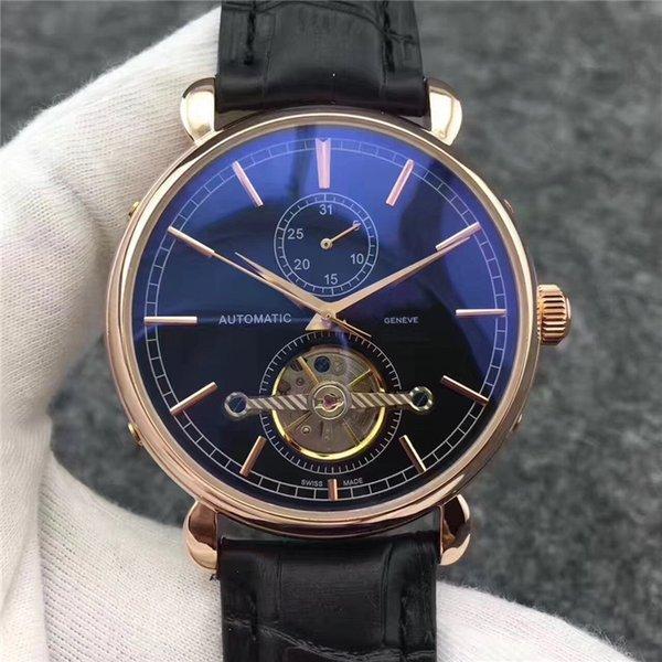 2019 Satış Otomatik mekanik saati erkek içi boş moda gelgit su geçirmez kol saati altın satıcı servisi süper 904L v9 izle