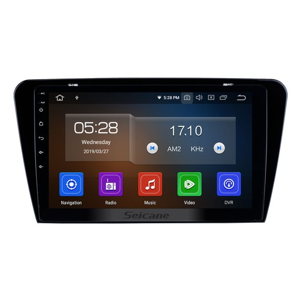 OEM 10.1 inch HD Touchscreen Android 9.0 Car Stereo GPS Navigation for 2015 2016 2017 SKODA Octavia (UV) with Bluetooth WIFI support car dvd