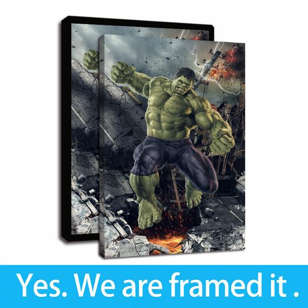 Compre Cartoon Art Framed Pintura Imprimir Impressao Imagem Hulk