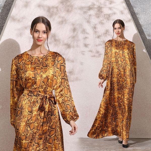 2009# Nation Wind Autumn And Winter New Pattern Long Sleeve Will Ma Xianshou Stripe Dress