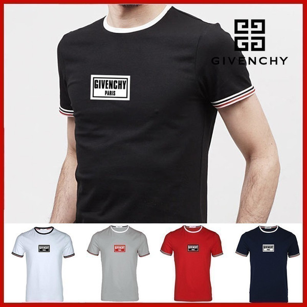 2019 yeni high-end moda çift kısa kollu yaka T-shirt POLO gömlek 0608364