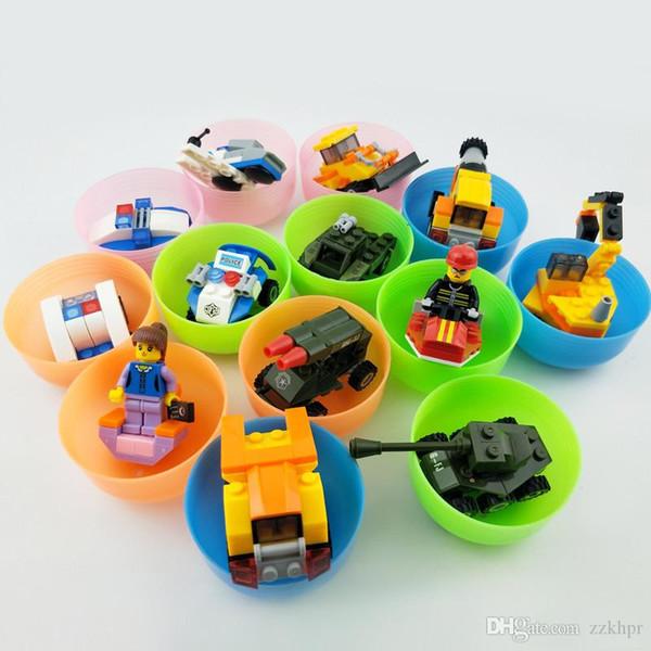top popular 65 * 70mm assembling building blocks, capsules, boy cars, girls, puzzles, assembling toy balls 2021