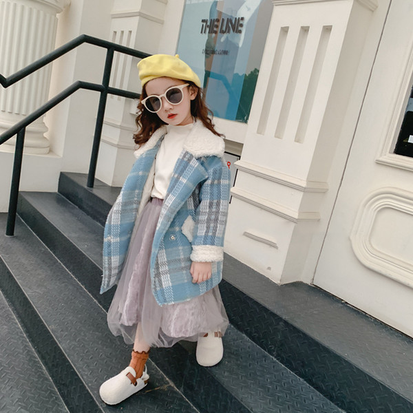 Children's clothes autumn and winter new children's jacket women girls plaid thick coat foreign style jacket
