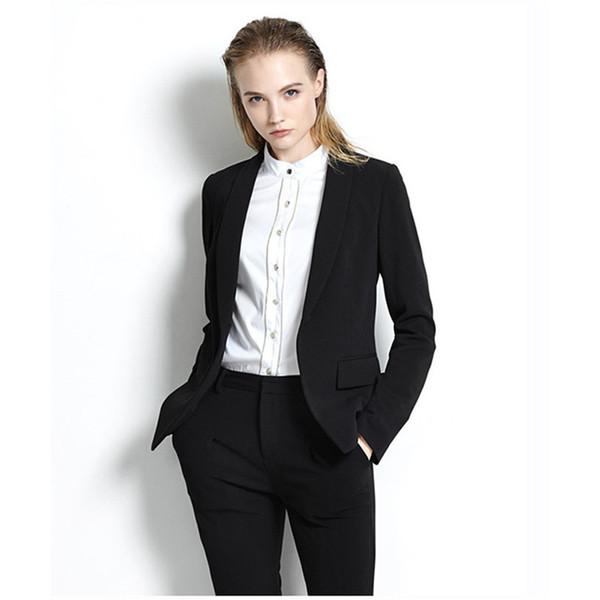 Womens Business Suits Office Uniform Designs Women Trouser Suit Slim Fit Formal Pant Suits For Weddings Tuxedo