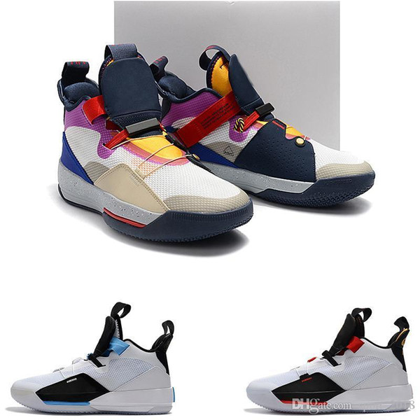Wholesale New Zoom Jump Man 33 Future Origins Tech Pac Basketball Shoes 33s For Men Michigan Pe Outdoor Trainers Jogging Sneakers Free Ship