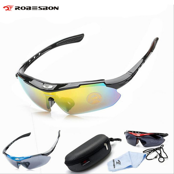 ROBESBON Bicycle Glasses PC Glasses Cycling Eyewear Sunglasses MTB Bike Ciclismo oculos de Sol For Men Women Bicycle