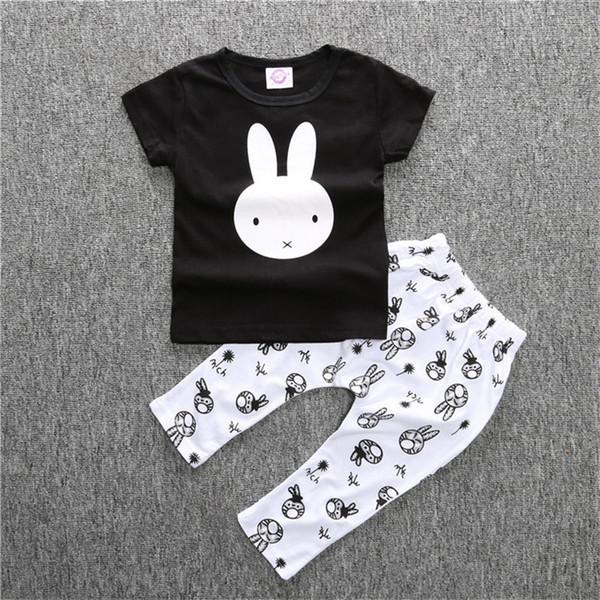 Été bébé barboteuse mode bébé garçon vêtements ensembles manches courtes bébé nouveau-né vêtements roupas bebe infantile combinaisons t-shirt pantalon