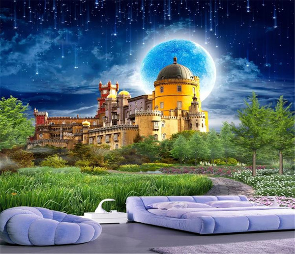 3d wallpaper wall promotion dream castle fairyland landscape hd superior interior decorations wallpaper