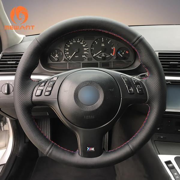 MEWANT Черный Кожаный руль для BMW E46 E39 330i 540i 525i 530i 330Ci M3 2001-2003