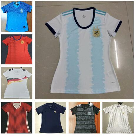 Mexico Jersey 2020 World Cup.2019 2019 2020 World Cup Women Jersey Spain Soccer Jersey Mexico Soccer Shirt Argentina Brazil Ger Many Ladies Football T Shirt Girls Jersey From
