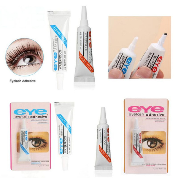 best selling black and white Practical Eyelash Glue Clear-white Dark-black Waterproof False Eyelashes Adhesive Makeup Eye Lash Glue lowest price DHL