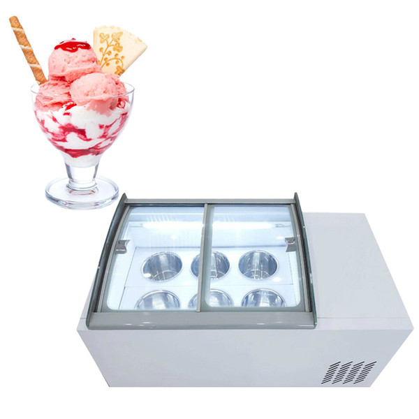 best selling 110V 220V High quality New ice cream display cabinet commercial freezer for cold drinks shop store supermarket ice cream display cabinet
