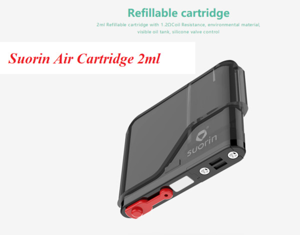 2019 Le più recenti capsule Air Pod di Suorin 2ml Cartuccia Pod di ricambio Cartucce ricaricabili per Suorin Air Vaping Kit