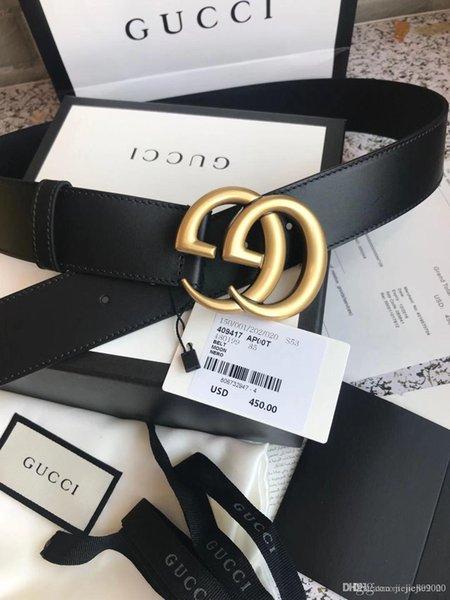 2020 mens qualidade Moda estilistas cinto de luxo para cintos de couro homem para homens / mulheres com caixa e etiquetas de frete grátis