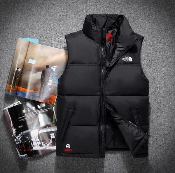 2019 nouveau double face de haute qualité hommes Down Down Vest Down veste manteau manteau épais sportswear hiver Vest pour hommes