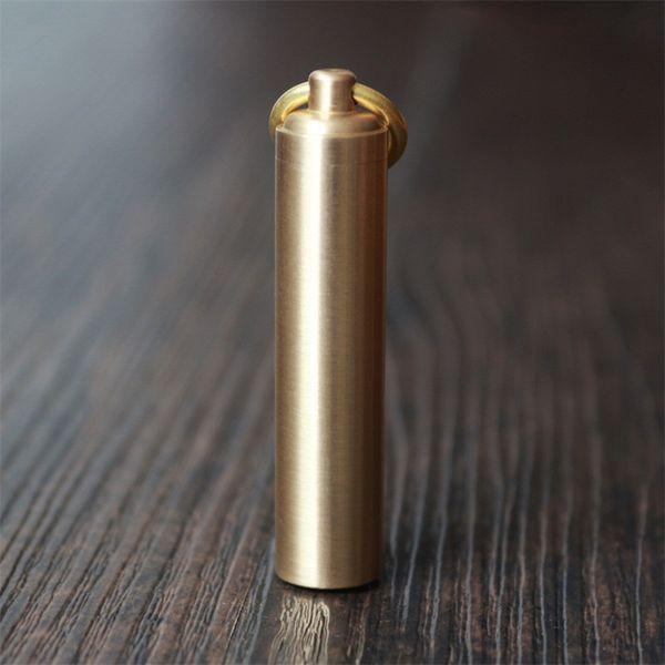EDC Water Proof Tank Brass Sealed Box Mini Metal Gear Storage Waterproof Bin Outdoor Tools Collection Hot Sale 4 5ytH1