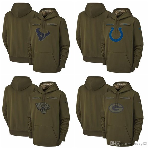 outlet store 30ff5 1806d 2019 Green Bay Packers Houston Texans Indianapolis Colts Jacksonville  Jaguars Salute To Service Sideline Therma Performance Pullover Hoodie From  ...