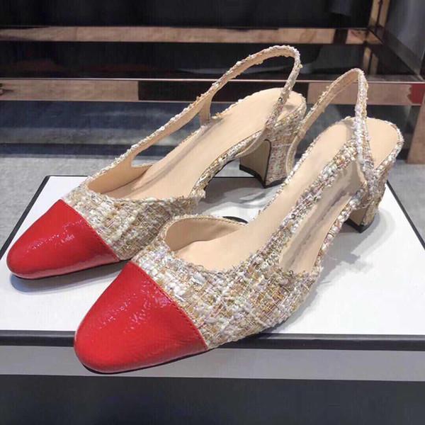 Diseñador de la marca Summer Casul Sandalias negras Punta abierta Correa de tobillo Zapatos de tacón Mujer Slingbacks Fiesta Boda Dama Sandalias de tacón alto