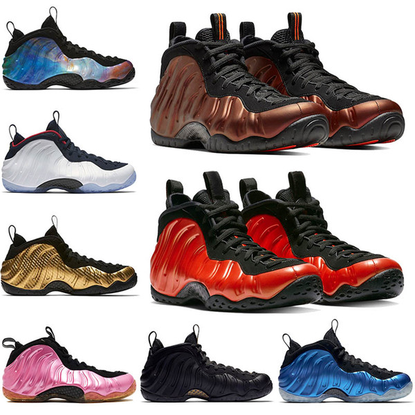 Penny Hardaway Shoes Hyper Crimson Foams One Habanero Red OG Royal Pearlized Pink Olympic Black Metallic Gold Mens Basketball Shoes US 7-13