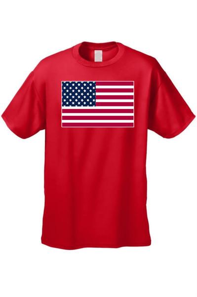 T-SHIRT DER HERREN USA-FLAGGE AMERIKANISCHE STOLZSTERNE UND STREIFEN ROTES WEISSES BLAUES PATRIOTICFunny freies Verschiffen