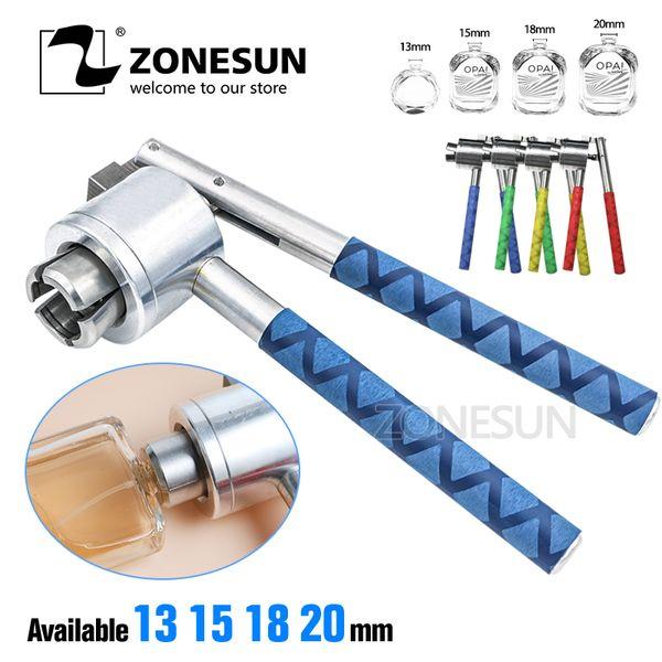 top popular ZONESUN 13 15 18 20mm Manual Perfume Bottle Spray Crimping Tool Bottle Vial Crimper Capping Sealing Machine 2020