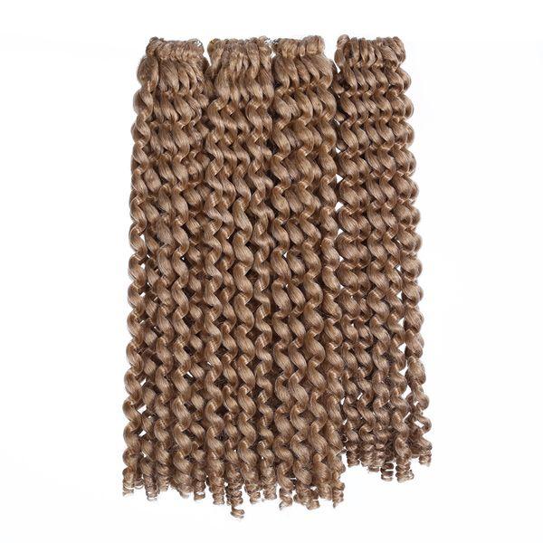 Ombre Jumpy Wand Curl Crochet Braids 20 Roots Jamaican Bounce Synthetic Crochet Braiding Twist Hair Extension for Black Women
