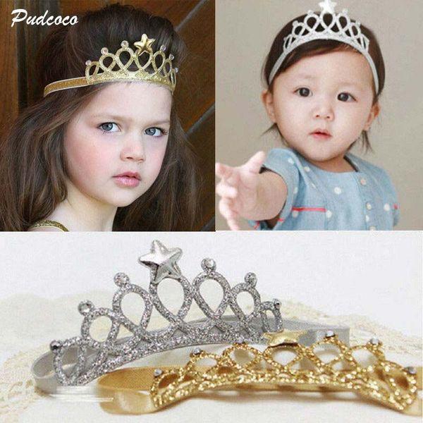 2019 marca acessórios para o cabelo bebê menina coroa hairband criança headband kid tiara princesa aniversário traje headwear