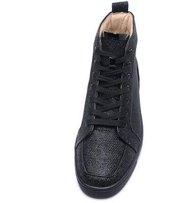 2018 Spring/Fall Black Red Bottom Sneakers Rantus Glitter Glitta Mens Sneakers Rantus Orlato Red Sole Men Shoes Lovers Wedding t03