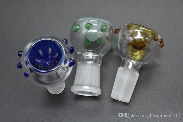 Ciotola di fumo colorato all'ingrosso 14mm 18mm Ciotole di tabacco per tubi di acqua di vetro Bong che fumano ciotole di olio Rigs Ciotole di vetro di olio