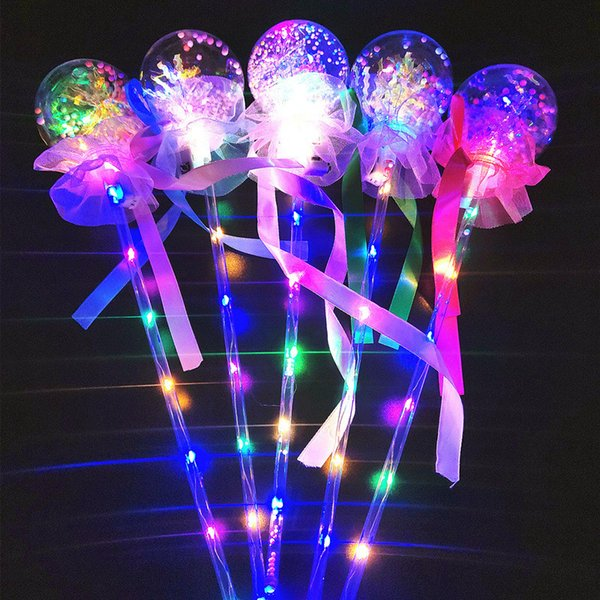 Valentinstag LED Bobo Ball Mädchen Magic Light Emitting Ball Kinder Bowknot Luminous Flash Spielzeug Ballon Geburtstag Hochzeit Party Dekoration B81402