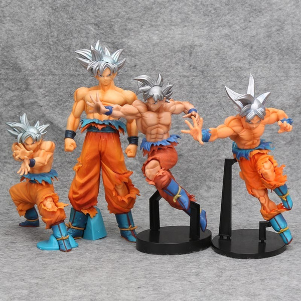 Dbz Figuren Dragon Ball Z Sohn Gokou Goku Super Ultra Instinkt Dominado (migatte No Gokui) Modell Pvc Action Figure Spielzeug J190513