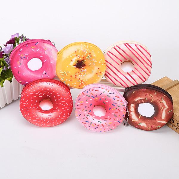 2017 Promosyon Yeni Varış Güzel Donuts Mini Çantalar Çocuk Komik Anahtar Sikke Çanta Toptan Çanta Öğrencileri Kişilik Hediye
